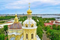 Панорама взгляда глаза птицы Санкт-Петербурга, России стоковые фотографии rf