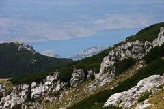 Панорама взморья Paklenica NP красивая от Vaganski Vrh стоковые изображения rf