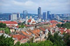 Панорама Вильнюса, Литвы Стоковые Изображения