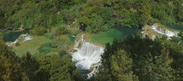 Панорама водопада Krka Стоковые Фотографии RF