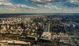 Панорама воздушный Буэнос-Айрес Аргентина горизонта стоковое фото