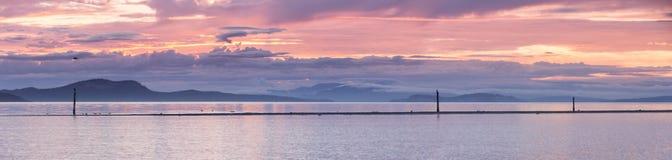 Панорама восхода солнца стоковые изображения rf