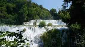 Панорама водопадов Krka Стоковая Фотография