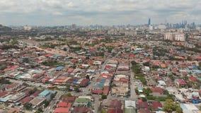 Панорама всего из Куалаа-Лумпур от далеких окраин города Малайзия Отснятый видеоматериал антенны трутня видеоматериал