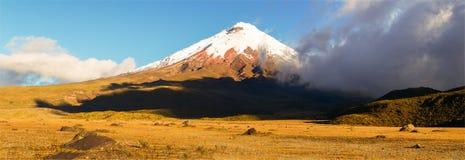 Панорама вулкана Котопакси Стоковое Изображение RF