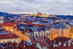 Панорама выравниваясь Праги, чехия Стоковая Фотография RF