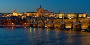Панорама выравниваясь Праги Стоковые Изображения RF
