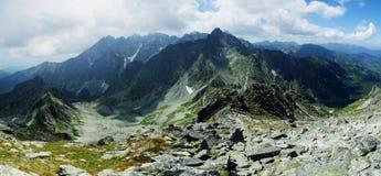 Панорама высокое Tatras, Словакия стоковые фотографии rf