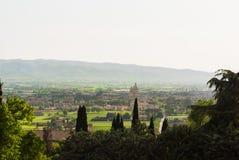 Панорама в окрестностях Assisi в Италии стоковая фотография rf