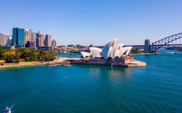 Панорама гавани Сиднея Стоковые Изображения
