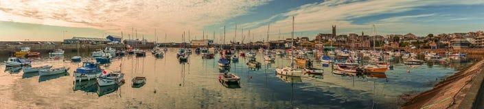 Панорама гавани Penzance Стоковое фото RF