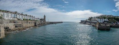 Панорама гавани Porthleven стоковые фото