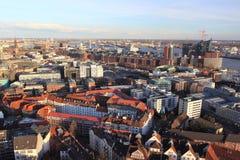 Панорама Гамбурга Стоковая Фотография RF