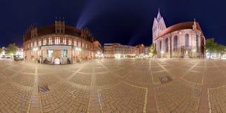 Панорама Ганновера Marktplatz Стоковая Фотография RF