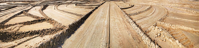 Панорама геометрических меток на песке Стоковое Изображение RF
