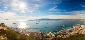 Панорама Гибралтара Стоковое Изображение RF
