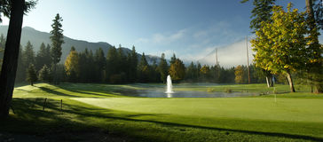 панорама гольфа стоковая фотография