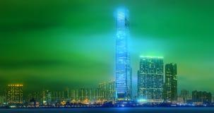 Панорама Гонконга и финансового района Стоковая Фотография RF