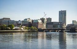 Панорама горизонта Бостона городская в Бостоне стоковые изображения