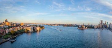 Панорама горизонта Сиднея Стоковые Фотографии RF