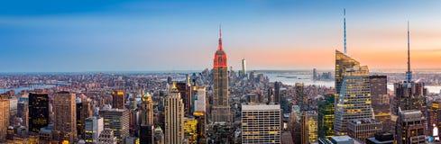 Панорама горизонта New York Стоковое Фото