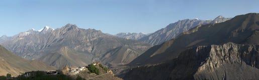 Панорама горного села Стоковая Фотография RF