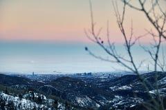 Панорама города Алма-Ата стоковые изображения