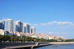 Панорама города в qingdao стоковая фотография