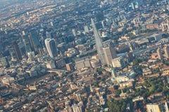 Панорама города небоскребов Лондона Стоковые Фото
