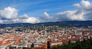 Панорама города Триеста, Италии стоковые фотографии rf