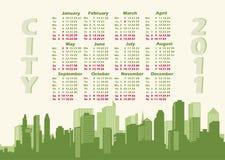 панорама города 2011 календара Стоковое Изображение