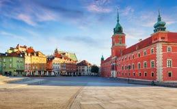 Панорама городка Варшавы старого, Польши стоковое изображение