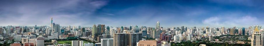 Панорама города Бангкока стоковые изображения