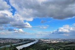 Панорама города вены Стоковые Изображения RF