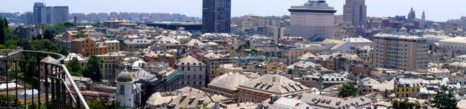 Панорама города Генуи в Италии Стоковое Изображение