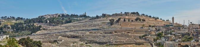 Панорама города Иерусалима старого Стоковые Изображения