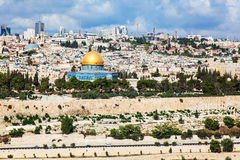 Панорама города Иерусалима Стоковая Фотография