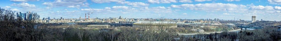 Панорама города Москвы Стоковые Фотографии RF