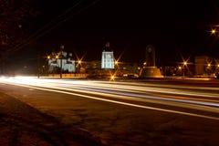 Панорама города ночи Стоковое Изображение RF