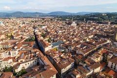 Панорама города Флоренса Стоковое Изображение RF