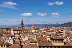 Панорама города Флоренса Стоковые Изображения RF