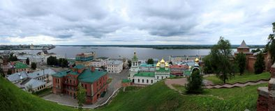 Панорама города Nizhny Novgorod Стоковое фото RF