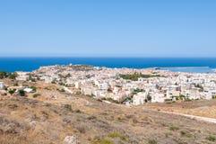 Панорама города Rethymno на Крите, Греции стоковые изображения