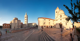Панорама города Zadar старая на заходе солнца, Хорватии стоковое фото rf