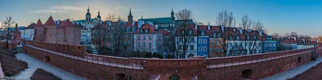 Панорама городка Варшавы старая Стоковая Фотография RF