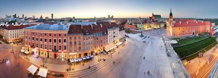 Панорама городка Варшавы старого, Польши стоковые изображения