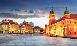 Панорама городка Варшавы старого, Польши стоковые фото