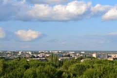 Панорама городка Стоковое Изображение RF