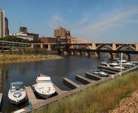 Панорама городского St Paul, Минесоты стоковые фотографии rf