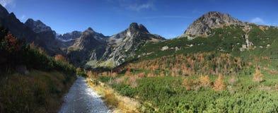 панорама горы восточных tatras в Словакии стоковые изображения